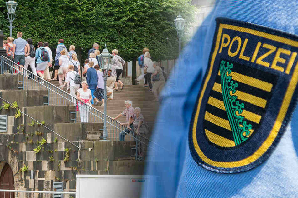Dresden: Polizeieinsatz in der Altstadt: Was war los auf der Brühlschen Terrasse?
