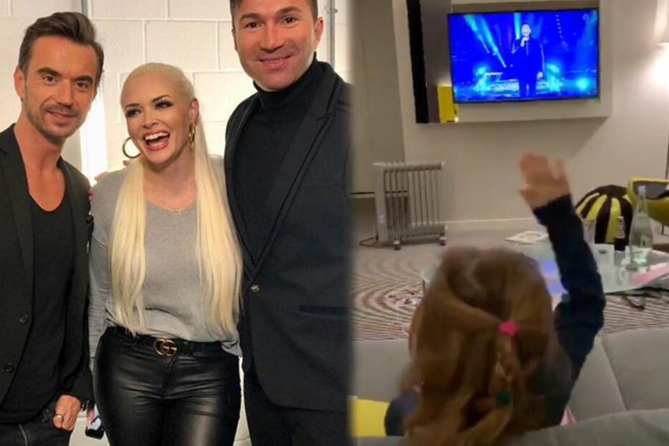 """Wie süß! Lucas Cordalis performt """"Anita"""" und Töchterchen Sophia feiert ihn"""
