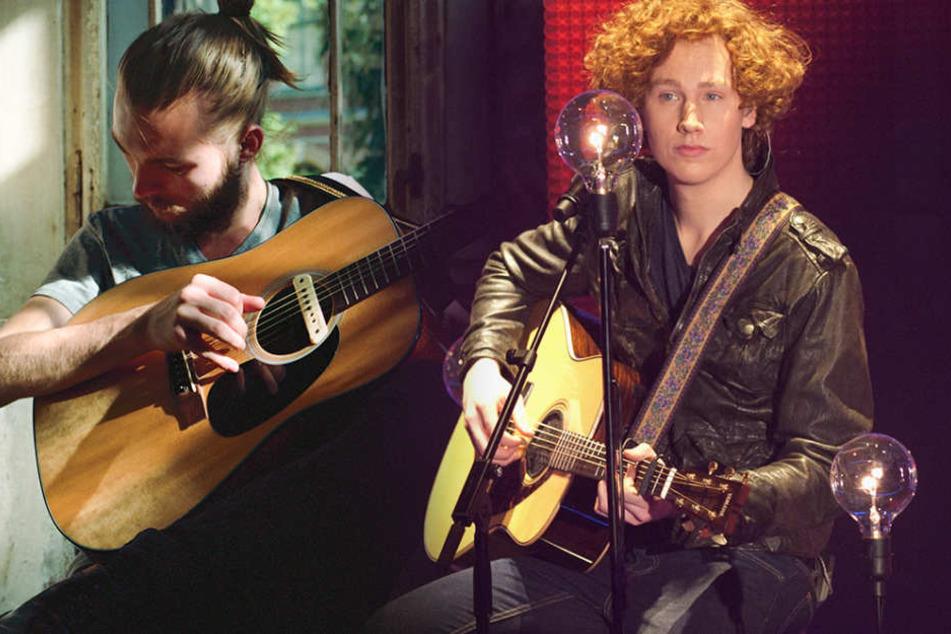 Zwei Männer, zwei Gitarren: Können Michael Schulte (r.) oder Xavier Darcy beim ESC-Vorentscheid überzeugen?