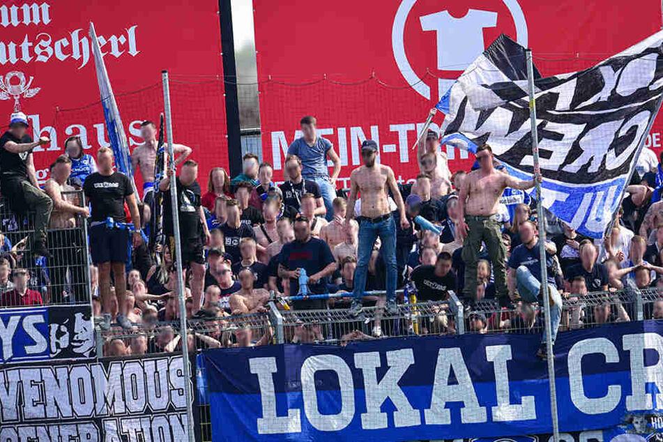 In Würzburg war die Stimmung nach dem 1:1-Ausgleich noch gut.
