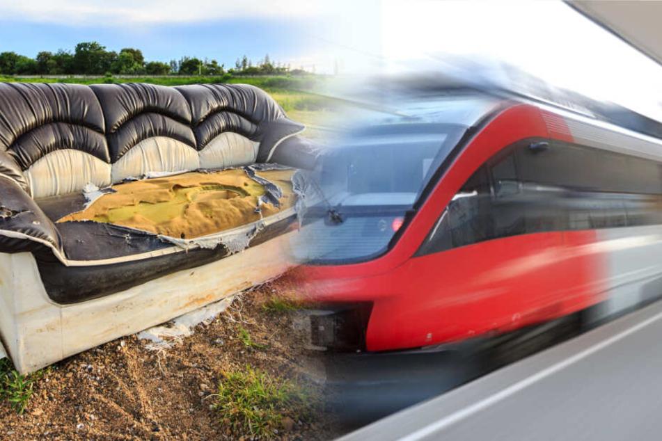 Der Zugfahrer konnte die Bahn glücklicherweise noch vor dem Hindernis stoppen (Symbolbild).