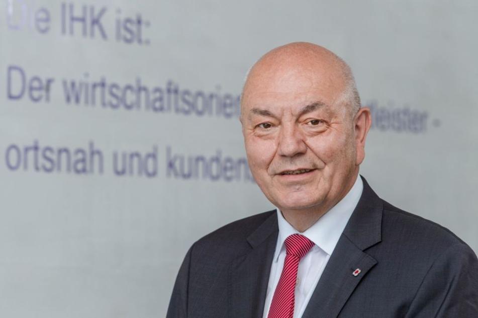 Dieter Pfortner (64) möchte als neuer IHK-Präsident den Fachkräftemangel bekämpfen.