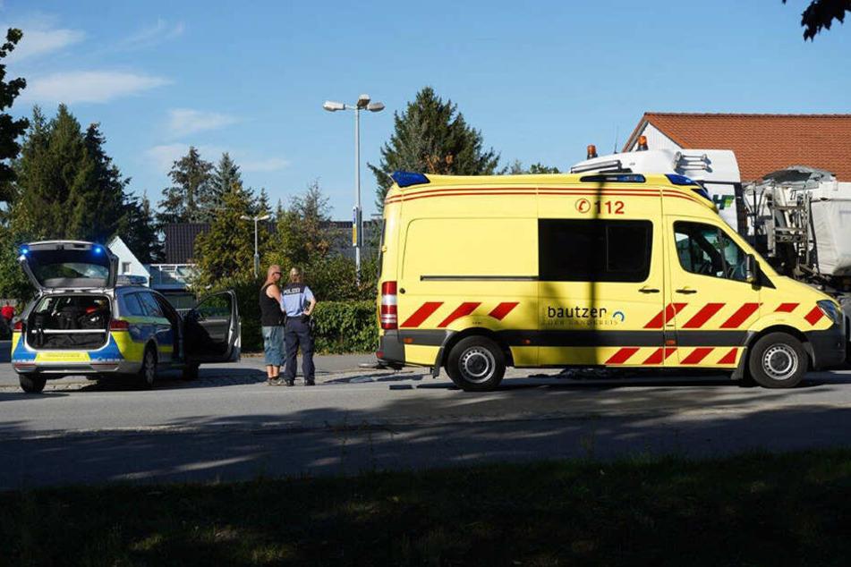 Polizisten und Rettungskräfte waren im Einsatz.