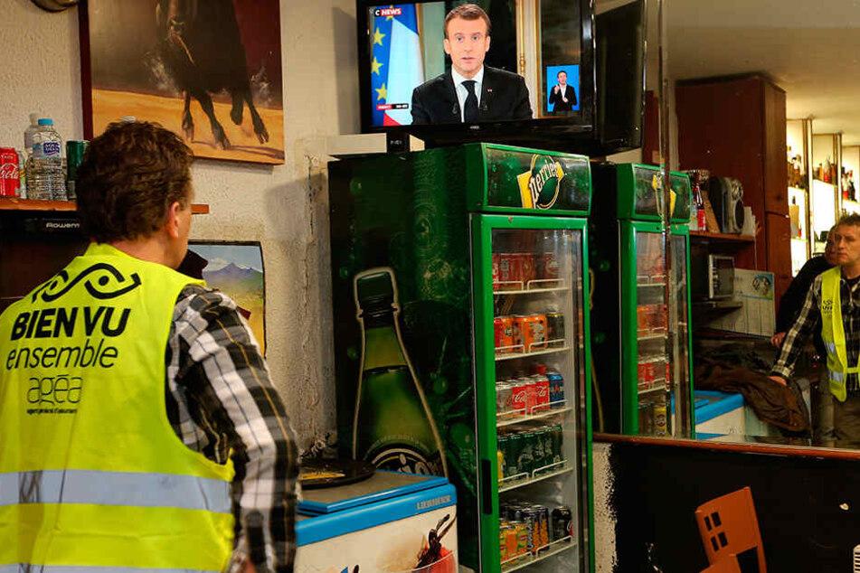 Von sehr vielen erwartet: Die TV-Ansprache des französischen Präsidenten Emmanuel Macron.