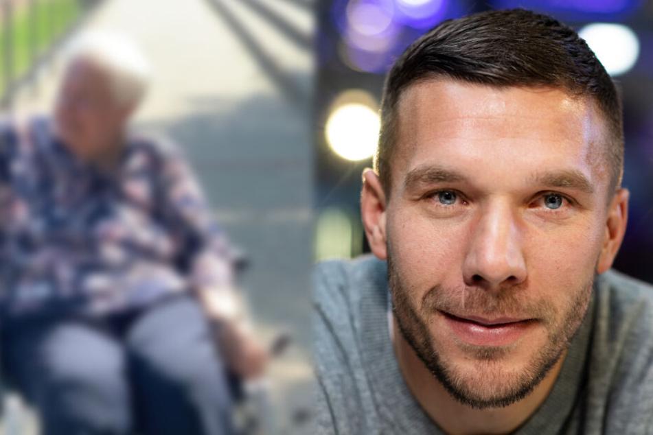 Seltener Anblick: Hier zeigt Lukas Podolski seine geliebte Oma