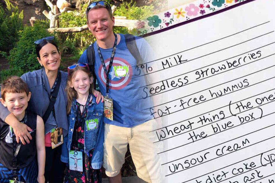 Mutter schickt faulen Ehemann mit irrer Einkaufsliste los, um es ihm richtig heimzuzahlen
