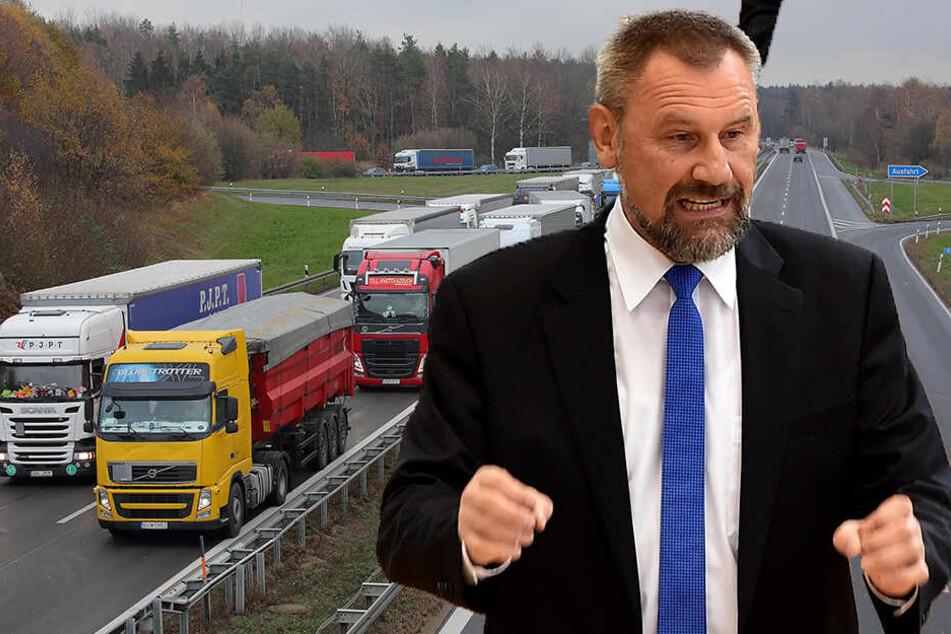 Immer wieder Ärger auf der A4: Lkw-Fahrer ignorieren Überholverbot