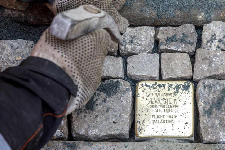 Eva Steins Gedenkstein an der Elsässer Straße.