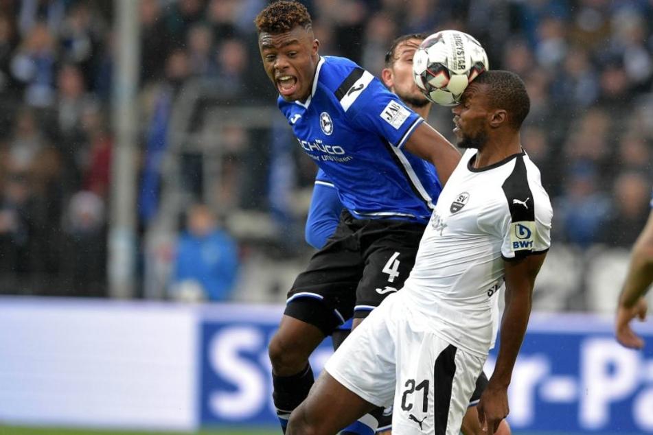Im Spiel gegen Kiel konnte Anderson Lucoqui sich mit seiner ersten Torvorlage bei den Profis behaupten.