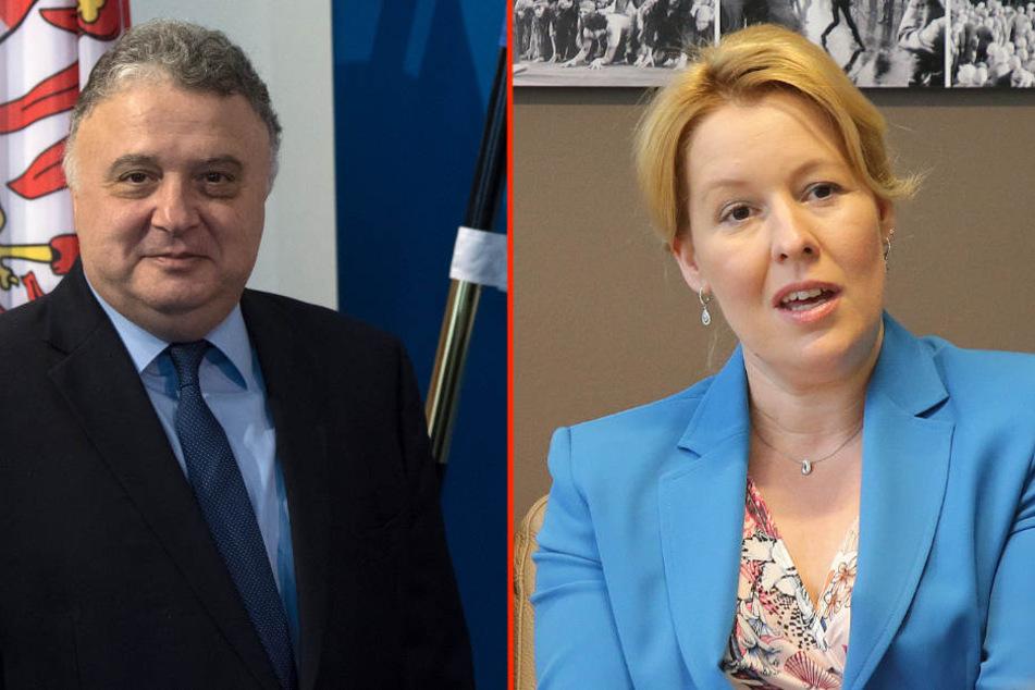 Bundesfamilienministerin Franziska Giffey (SPD) und Jeremy Issacharoff (63), Israels Botschafter in Deutschland, üben Kritik.