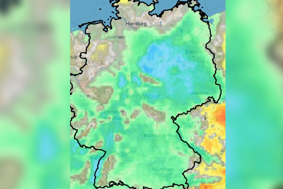 Wie die Wetterkarte zeigt, liegen die Höchstwerte zwischen 2 und sechs Grad. Nachts kommt es in weiten Teilen Deutschlands zu Minusgraden.