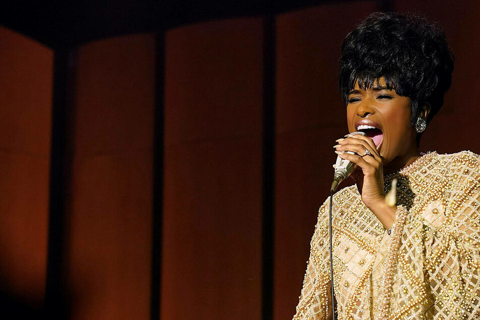 Jennifer Hudson stars as the late Aretha Franklin in the biopic Respect.