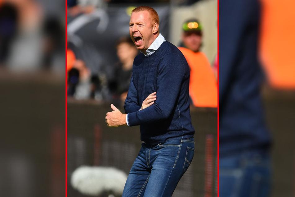 Wird am heutigen Freitag in Großaspach ganz genau hinschauen: Dynamo-Coach Maik Walpurgis.