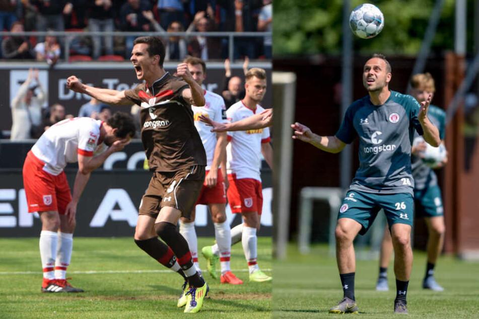 Johannes Flum (links) und Rico Benatelli standen beim FC St. Pauli wieder auf dem Trainingsplatz. (Archivbilder)