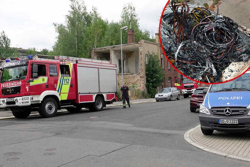 Kabeldiebe sorgen für Feuerwehreinsätze in Chemnitz