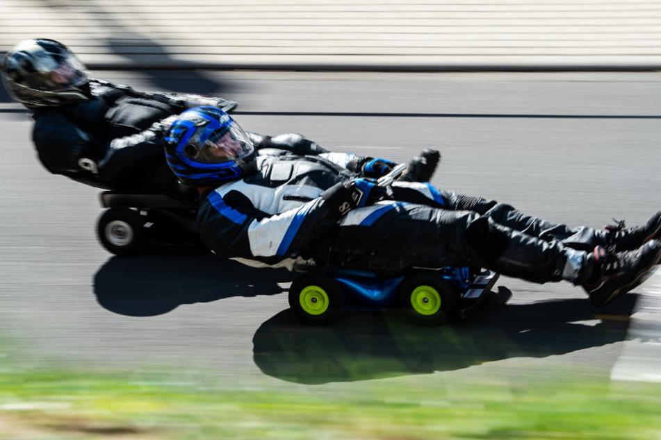Bobby Cars mit Triebwerken waren bei dem Rennen nicht zugelassen.