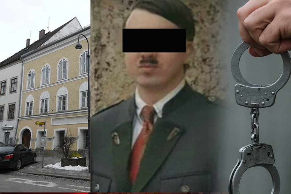 """Das war der Dopppelgänger des """"Führers"""", der sich in Hitlers Geburtsstadt mit Touristen fotografieren lässt."""