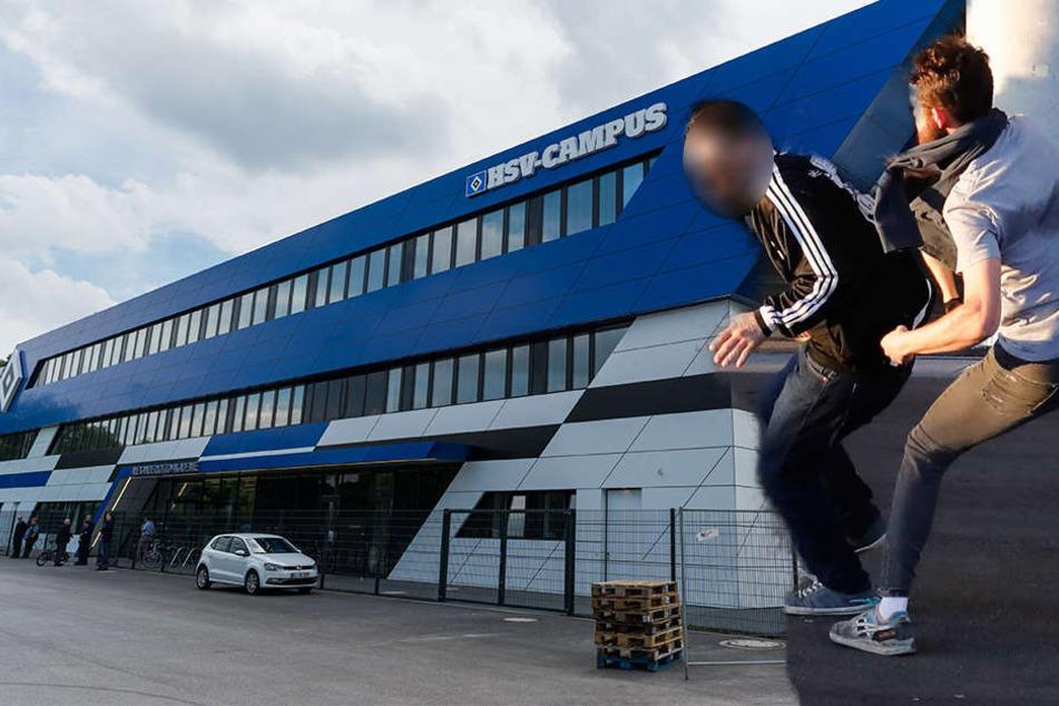 Vor dem HSV-Campus wurden mehrere RB-Fans von HSV-Anhängern beleidigt und angegriffen. (Symbolbild)