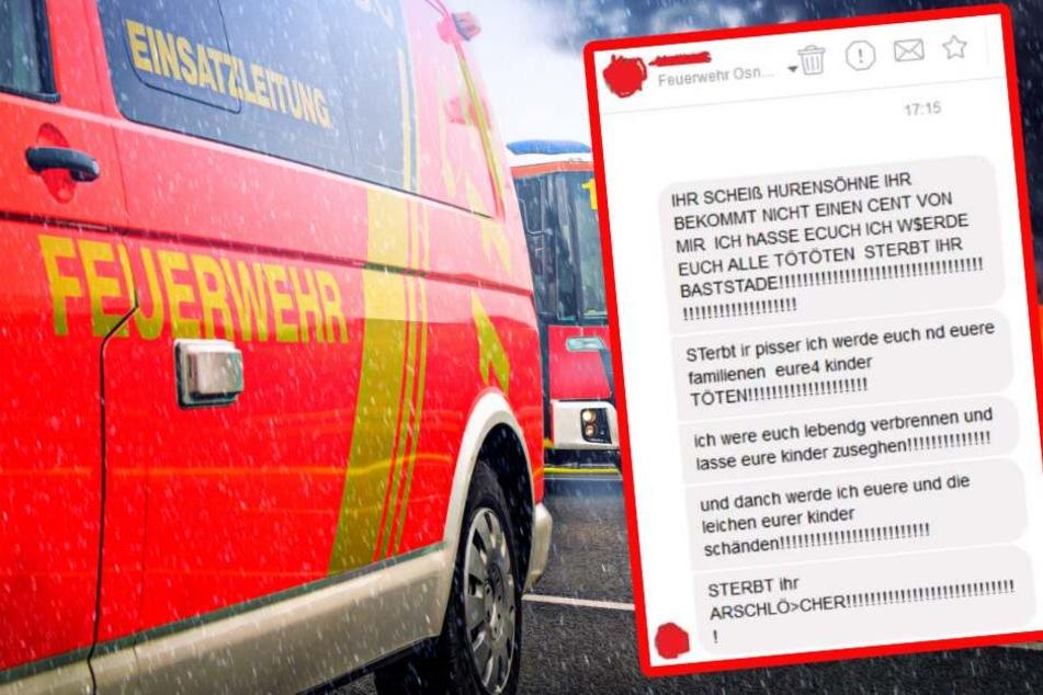 Mann droht Feuerwehrleuten mit Mord, doch diese reagieren mit viel Humor