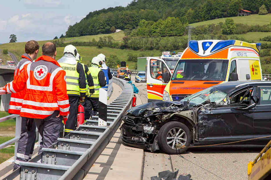 Der Passat war nach dem Unfall Schrott.