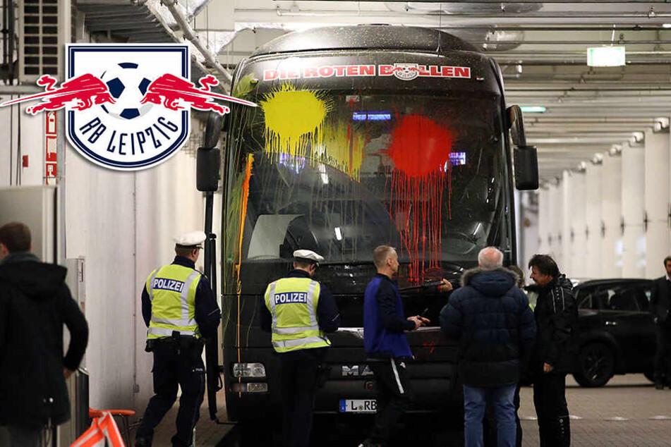 Vermummte Chaoten attackieren Bus von RB Leipzig