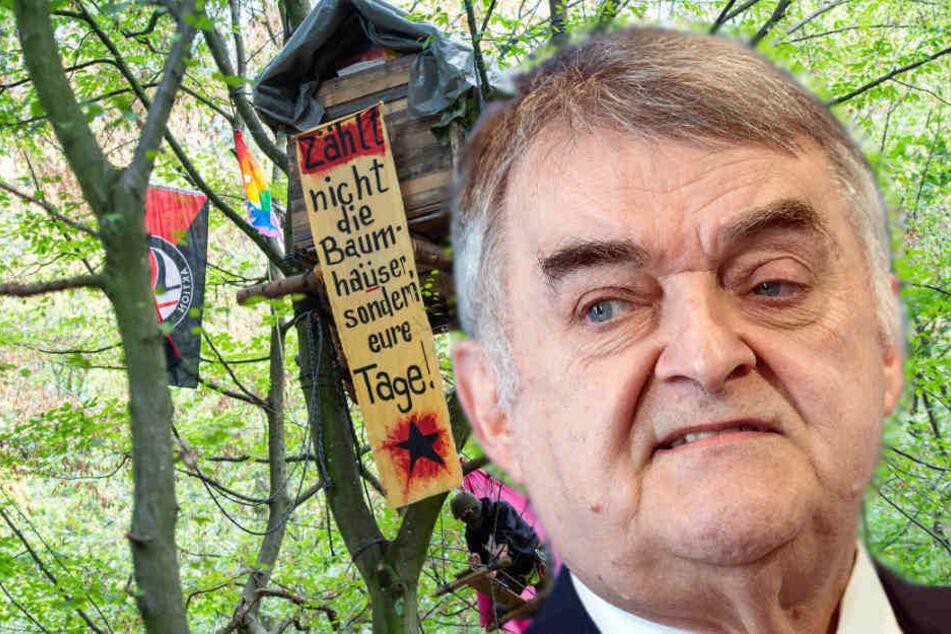 """""""Kriminelle"""" im Wald: Reul verteidigt Räumung im Hambacher Forst"""