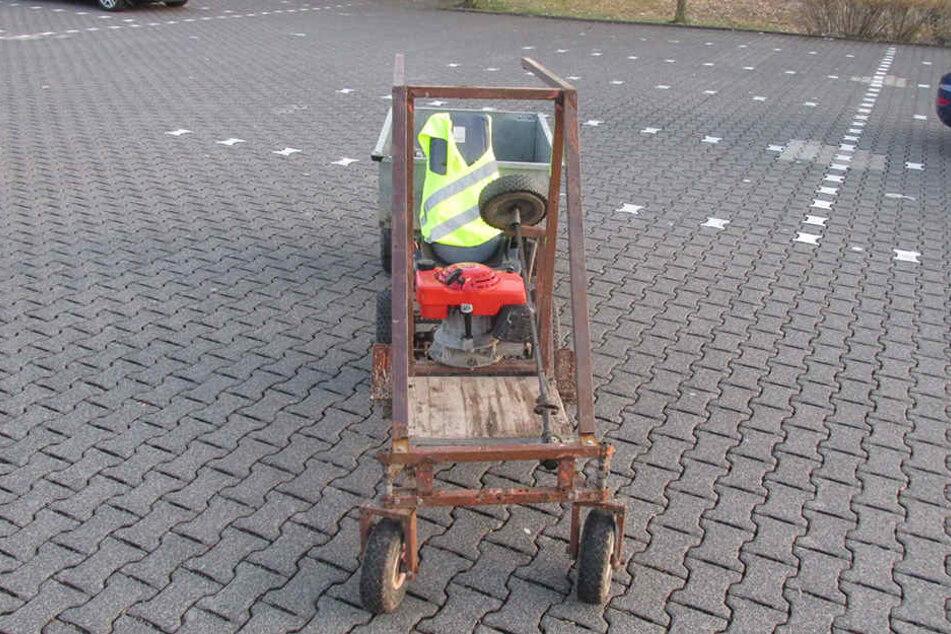 Mit diesem Fahrzeug haben zwei Jugendliche die Stadt Kierspe unsicher gemacht.