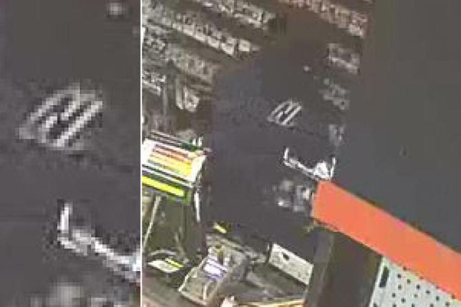 Der Täter trug ein dunkles Oberteil mit dem weiß umrundeten Buchstaben N im Brustbereich.