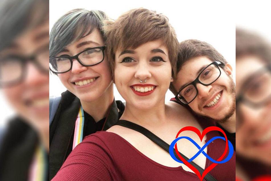 Als sie Dana (links) kennen lernten, verliebte sich das Paar in das Mädchen.