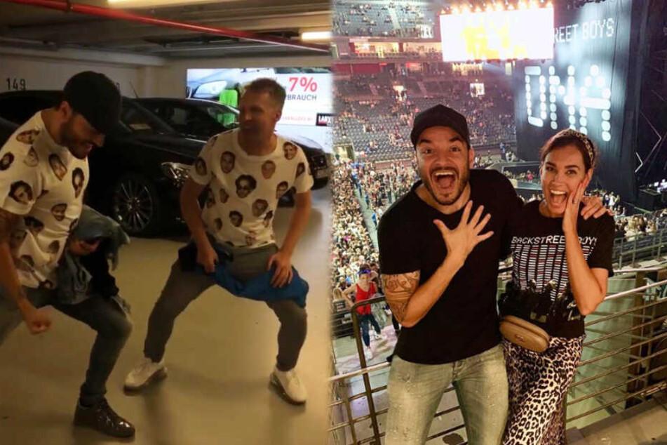 """Die Kölner Prominenz hat auf dem """"Backstreet Boys""""-Konzert sichtlich Spaß."""