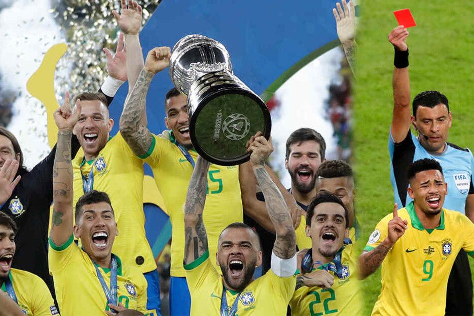 Nach Gefühls-Achterbahn für Jesus: Gastgeber Brasilien gewinnt Copa America