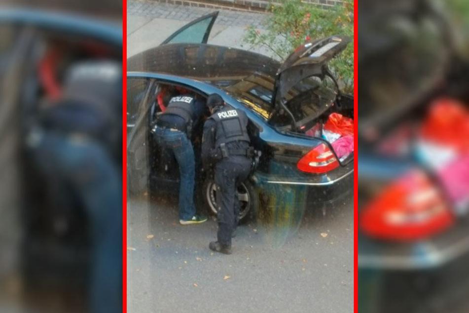 Auch der E-Klasse-Mercedes des Studenten wurde nach der Festnahme durchsucht.