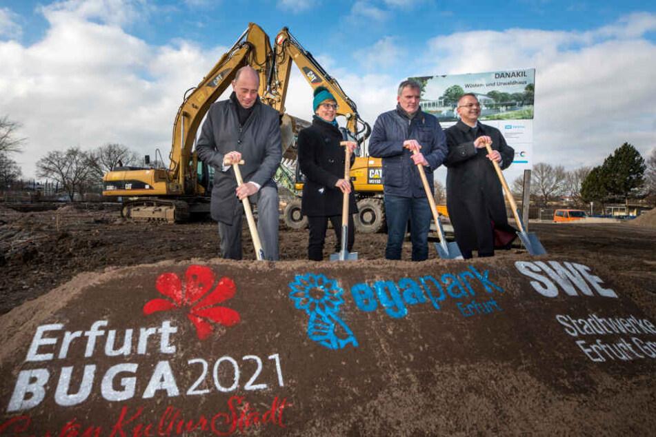 Umbauarbeiten für die BuGa 2021 in Erfurt gehen weiter