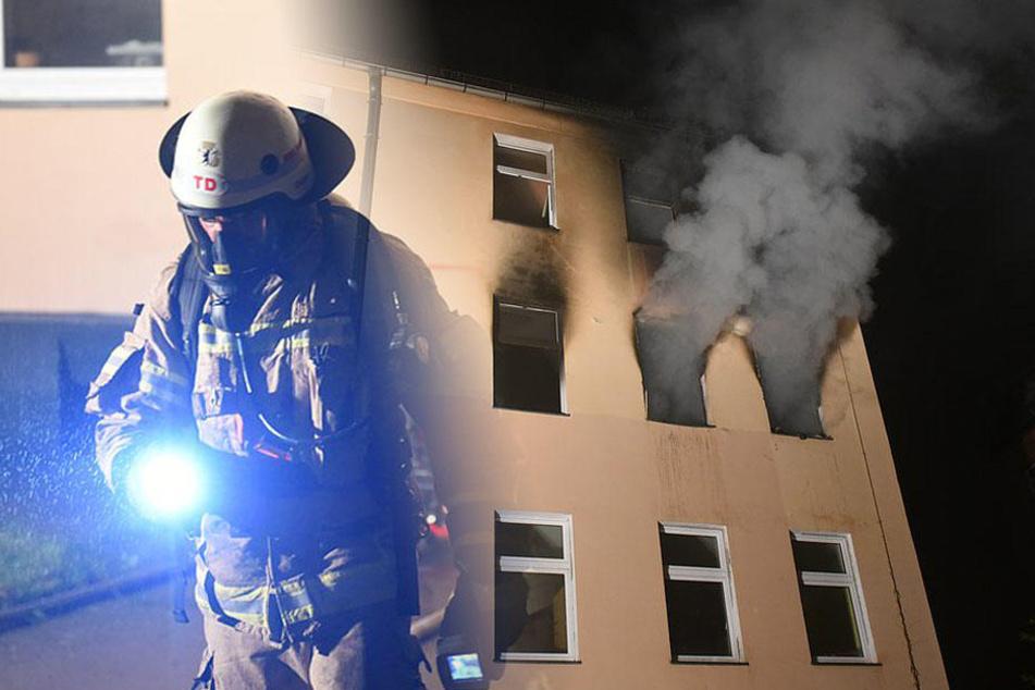 Das Haus ist nach dem Brand einsturzgefährdet. Das zuständige Bezirksamt kümmert sich nun um eine alternative Unterkunft.