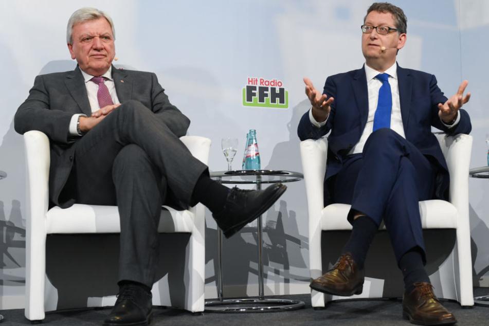 Ministerpräsident Volker Bouffier (CDU, links) und sein Herausforderer Thorsten Schäfer-Gümbel.