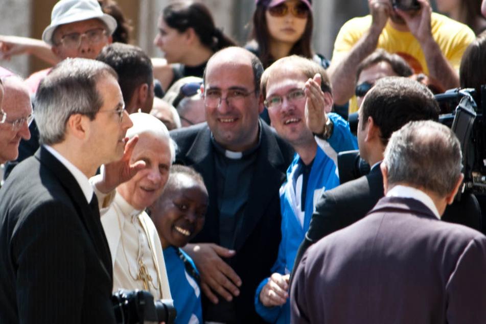 Beim Friedenslauf im Jahr 2010 empfing Papst Johannes Paul II die Läufer in  Rom.