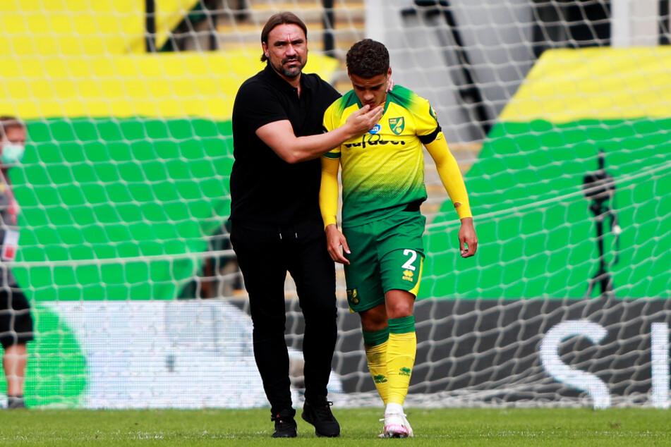 Der deutsche Coach Daniel Farke (44, l.) blieb auch nach dem Premier-League-Abstieg bei Norwich City im Amt. Eine gute Entscheidung, denn der NCFC ist Spitzenreiter der zweiten Liga Championship.