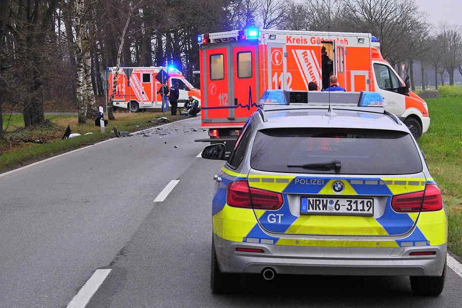 44-jährige Autofahrerin bei Massencrash schwer verletzt