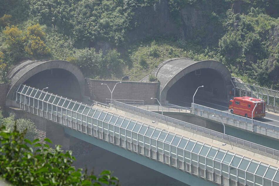 Erst im Juni musste die Feuerwehr zu einem Brand im Coschützer Tunnel ausrücken.