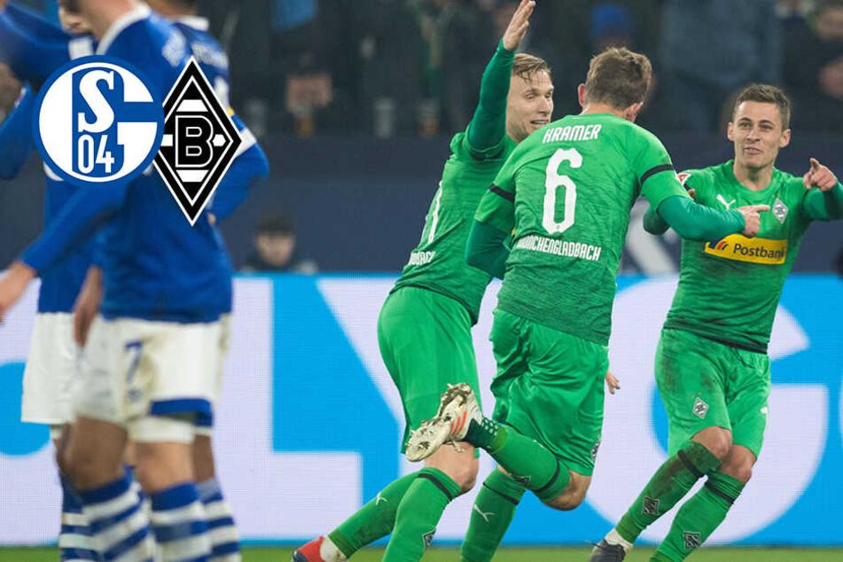 Rote Karte für Nübel! Gladbach siegt auf Schalke und ist erster BVB-Verfolger