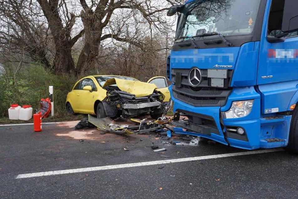 Die Opel-Fahrerin wurde schwer verletzt.