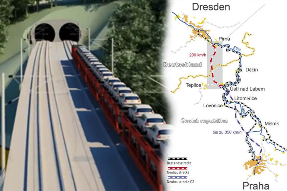 Endlich Entlastung durch Supertrasse Dresden-Prag