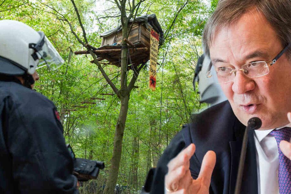 Laschet fordert Besetzer auf, Hambacher Forst zu verlassen