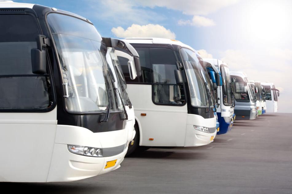 Die Bundespolizei kontrollierte den Bus auf dem A72-Parkplatz Magwitz. (Symbolbild)