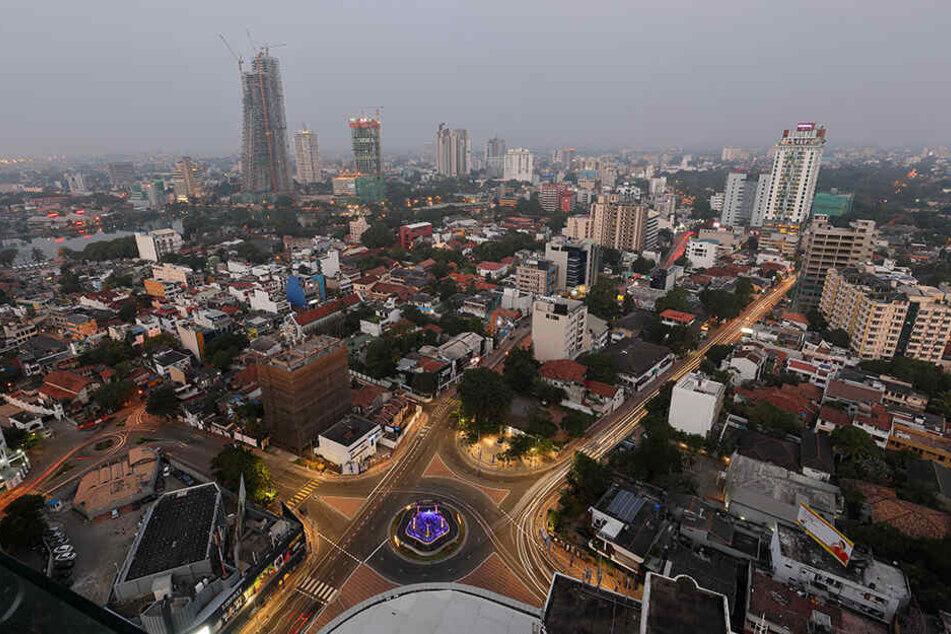 Die Skyline von Colombo.