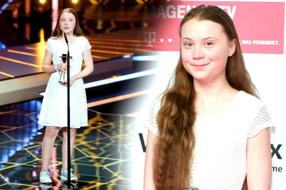 Hier bekommt Greta Thunberg die Goldene Kamera verliehen