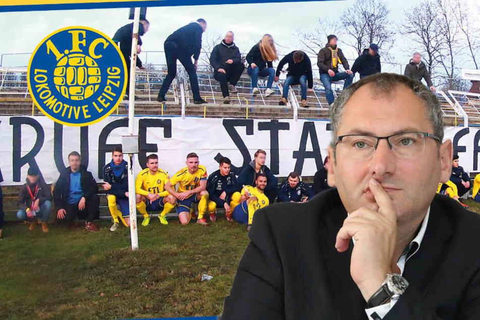 """Affenlaute gegen Hertha: Lok Leipzig will """"Vollpfosten"""" rausschmeißen"""