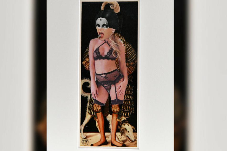 """Teil der aktuellen Ausstellung """"Eins - Zwei - Dreier..."""": Eine Collage aus der Serie """"Frauen"""" von Frank Voigt."""
