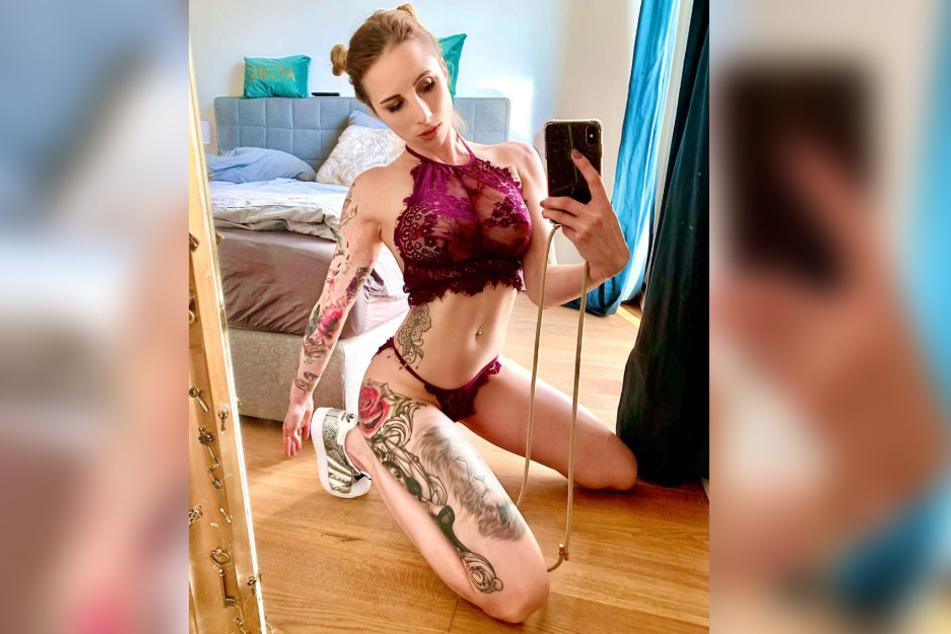Hanna zeigt sich auf dem Selfie in sexy Reizwäsche.