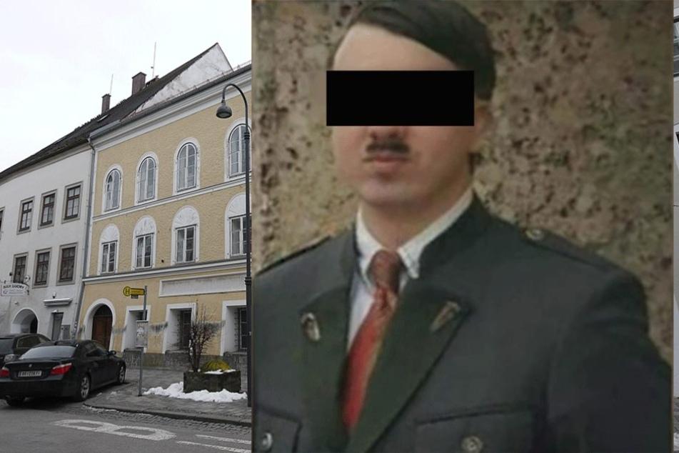 """So sieht der Dopppelgänger des """"Führers"""" aus, der sich in Hitlers Geburtsstadt mit Touristen fotografieren lässt."""